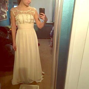 Cream bridesmaid/prom dress!